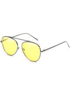 Gafas De Sol Piloto Anti Fatigue Top Bar - Amarillo