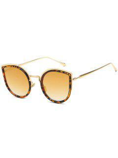 Stylish Alloy Frame Catty Sunglasses - Golden Brown