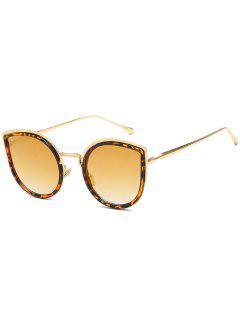 Stilvolle Legierung Frame Catty Sonnenbrille - Goldgelb
