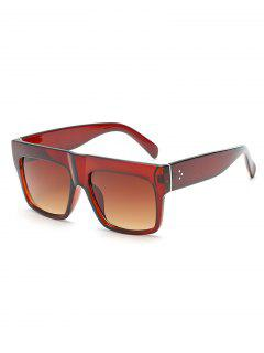 Novelty One Piece Wide Frame Sunglasses - Brown Bear