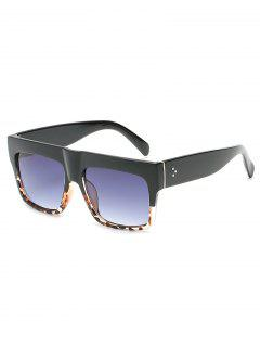 Novelty One Piece Wide Frame Sunglasses - Light Slate Gray