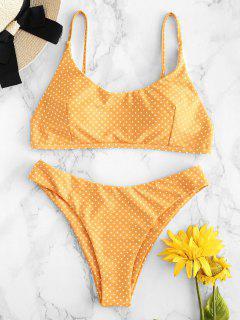 Bikini Échancré à Pois  - Jaune Clair L