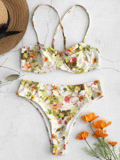 Balconette-Bikini-Set Mit Blumenmuster - Multi L