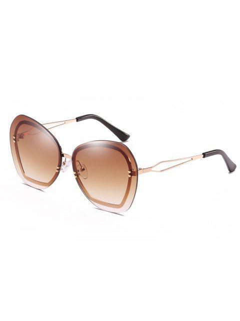 Anti Ermüdung Nieten Randlose Sonnenbrille - Brauner Bär  Mobile