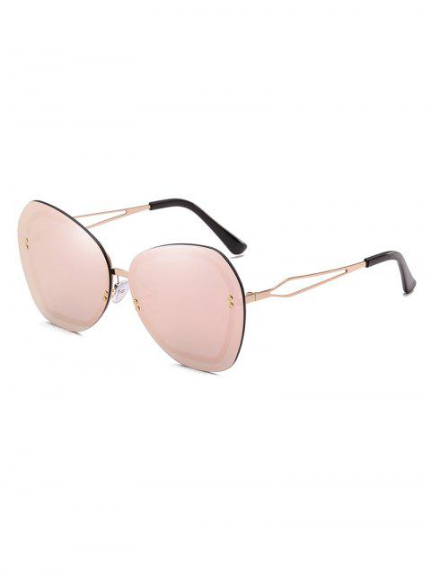 chic Anti Fatigue Rivets Rimless Sunglasses - PIG PINK  Mobile