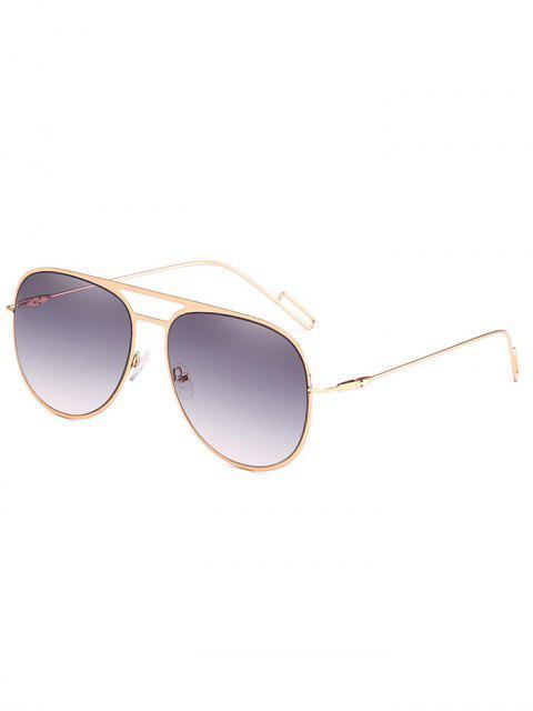 Gafas de sol anti-fatiga ahueca hacia fuera la aleación - Gris Pizarra Claro  Mobile
