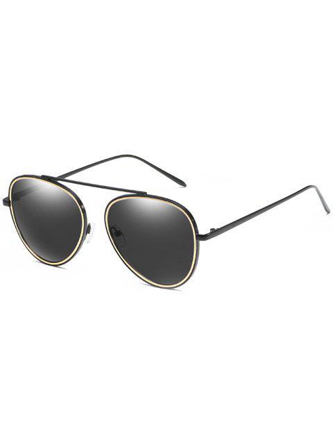 Anti Müdigkeit Top Bar Pilot Sonnenbrille - Schwarz  Mobile