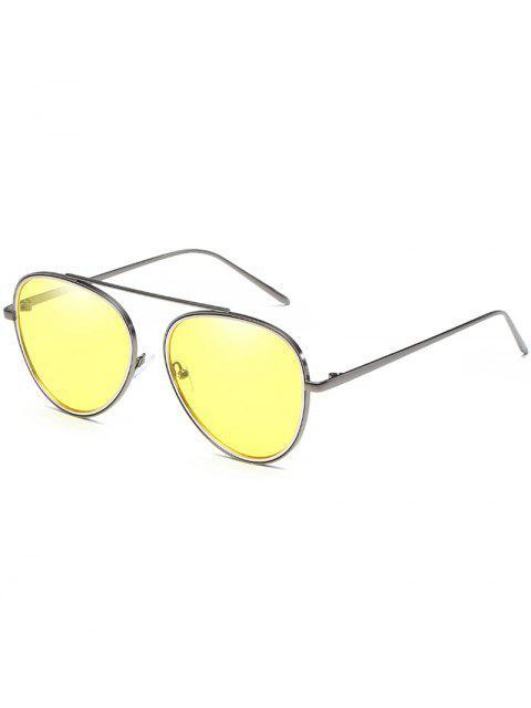 Anti Müdigkeit Top Bar Pilot Sonnenbrille - Gelb  Mobile
