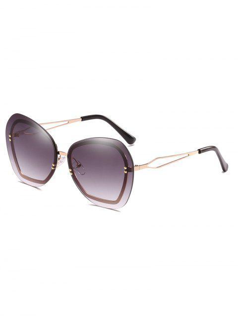 Anti Ermüdung Nieten Randlose Sonnenbrille - Grau  Mobile