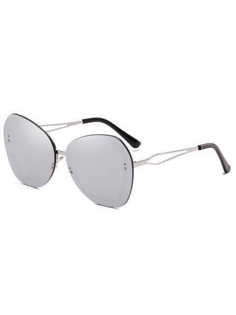 Rivets Anti Fatigue Lunettes de soleil sans monture - Gris argenté  Mobile