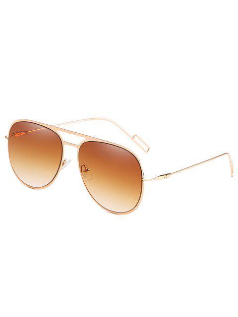 Gafas de sol anti-fatiga ahueca hacia fuera la aleación - Marrón Claro  Mobile