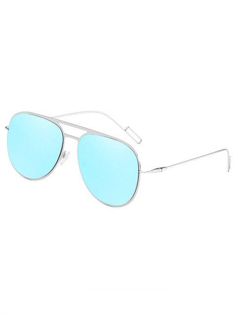 fancy Anti Fatigue Hollow Out Alloy Frame Sunglasses - DAY SKY BLUE  Mobile