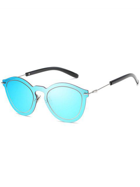 women Novelty Rimless One Piece Sunglasses - DODGER BLUE  Mobile