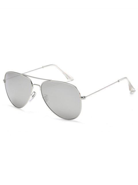 Gafas de sol piloto de la barra cruzada del marco metálico antifatiga - Platino  Mobile