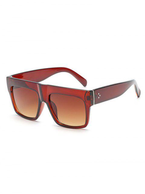 Neuheit One Piece Wide Frame Sonnenbrille - Brauner Bär  Mobile