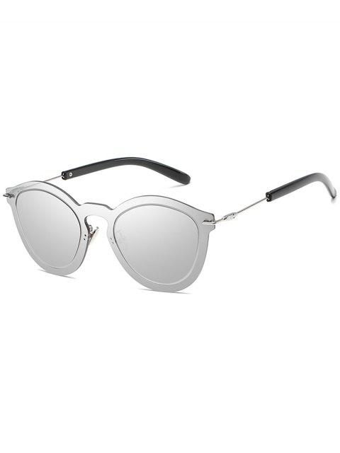 ladies Novelty Rimless One Piece Sunglasses - PLATINUM  Mobile