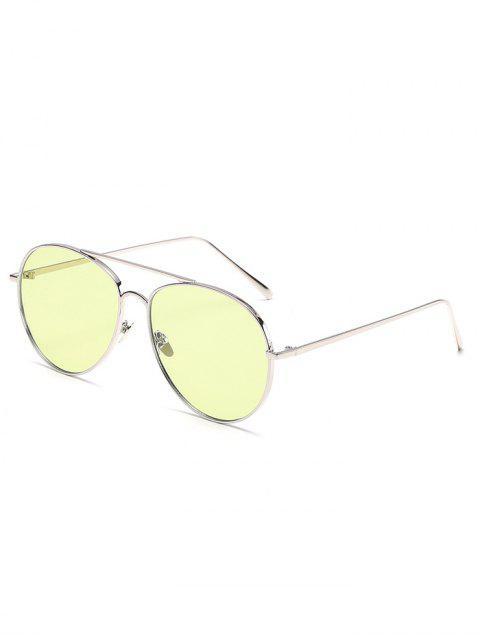 Vintage Metallrahmen flache Objektiv Sonnenbrille - Cornsilch  Mobile