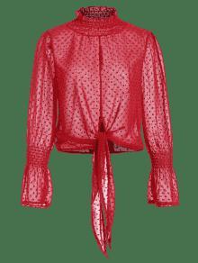 Rojo Desgastada Blusa Con S Desgastada Textura Con Blusa Textura nvqwp0