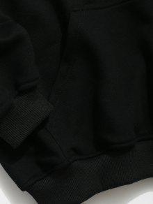 Negro Gr De Xl Capucha 225;fica De Con Kangaroo Sudadera Bolsillo qER78E