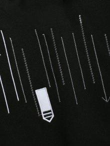 Negro Sudadera Xs De Punta Casual Flecha Bordado xqtznXB1f