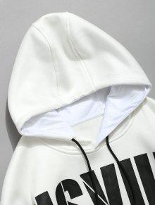 Blanco De M Sudadera 243;n Cord Con Estampado Letras Con wnqOaB