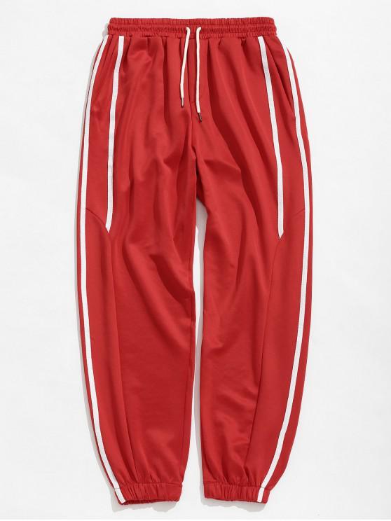 Calças Casual Listrado Sports Basculador - Vermelho XS