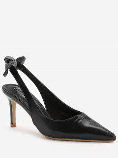 Stiletto Heel Bowknot Leisure Pumps - Black 39
