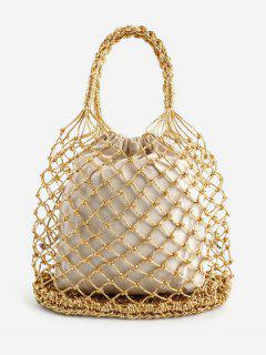 Holiday Bucket Hollow Out Tote Bag - Blonde