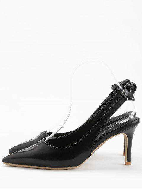 women's Stiletto Heel Bowknot Leisure Pumps - BLACK 37 Mobile