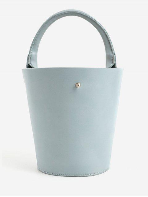 shops Minimalist Leisure Vacation Tote Bag - BABY BLUE  Mobile