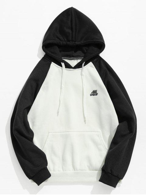 lady Two Tone Pocket Fleece Hoodie - BLACK S Mobile