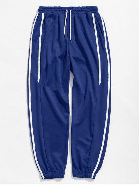 best Casual Side Striped Sports Jogger Pants - BLUE L Mobile