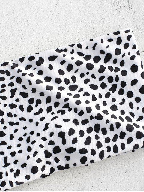 affordable ZAFUL Back Lace-up Bikini Set - WHITE S Mobile