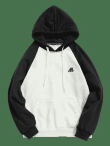 Hoodie Negro Tone Fleece Two L Pocket q7RxFB