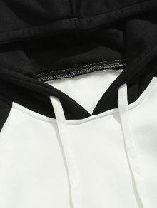 Negro L Fleece Two Hoodie Pocket Tone qZ6xwWznv