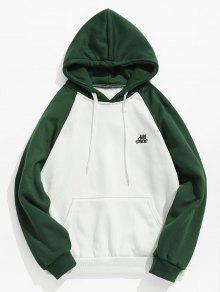 اثنين من جيب لهجة جيب هوديي - أخضر Xs