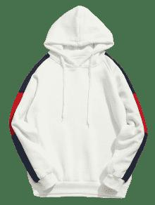 Polar Patch Capucha Blanco Sudadera Stripes Side L Con wES16zqxn