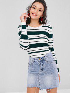 Gestreifter Gerippter Pullover - Multi