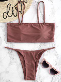 Gepolsterter Cami Thong Bikini Set - Tulpe Rosa M
