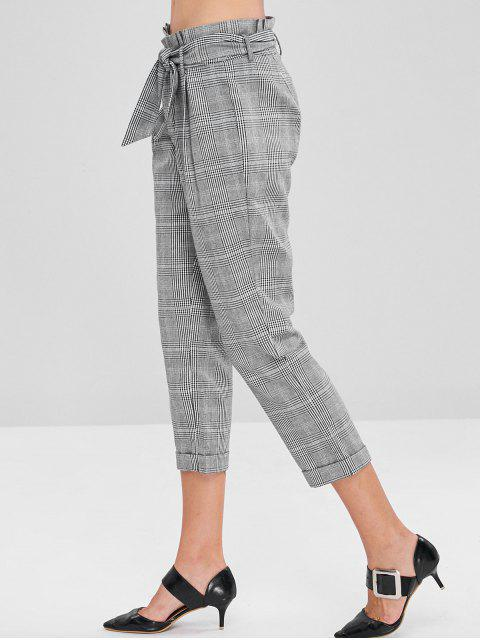 Pantalones de bolsa de papel de talle alto - Multicolor M Mobile
