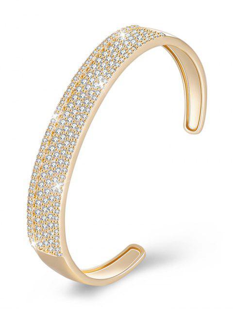 Bracelet manchette élégant strass incrusté de strass - Champagne  Mobile
