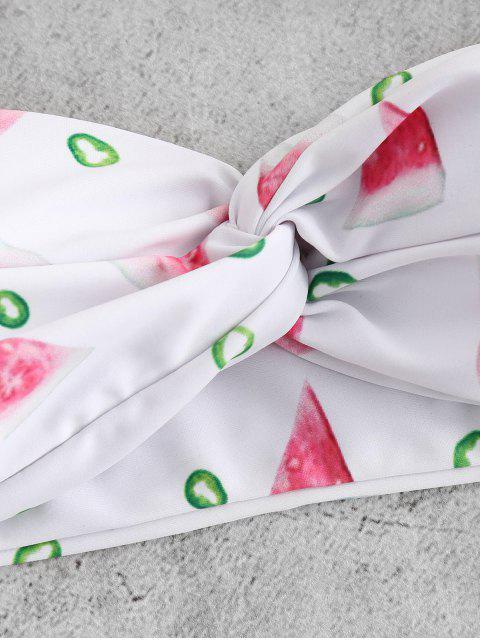 outfit Watermelon Twist Bikini Set - WHITE L Mobile