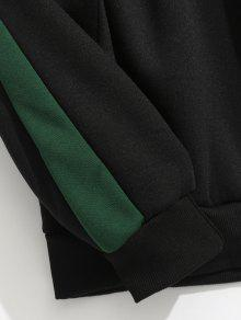 Negro Fleece Carta Hoodie Contraste Xs Stripes IOw1f