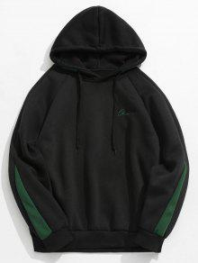 Contraste Negro Carta Fleece Hoodie Xs Stripes wwPvxqS