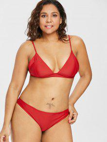 Rojo Bikini 3x Talla De Acolchado Amo Conjunto Grande 6qvUxxY