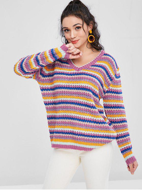 latest Colorful Oversized Sweater - MULTI ONE SIZE
