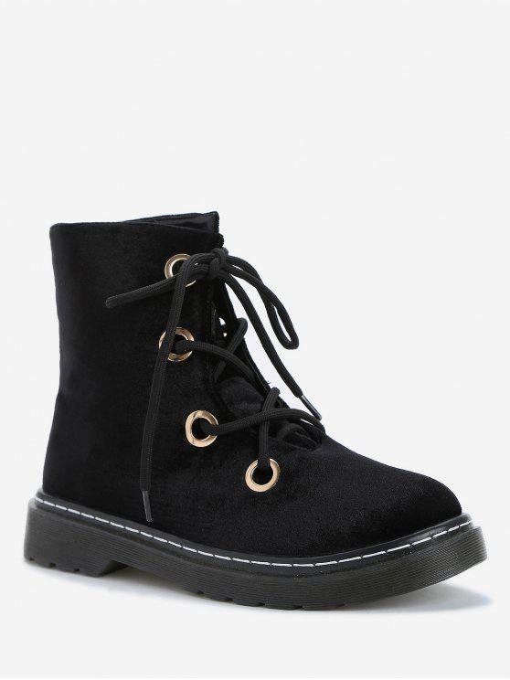 Lazer ao ar livre High Top Lace Up Botas - Preto 36