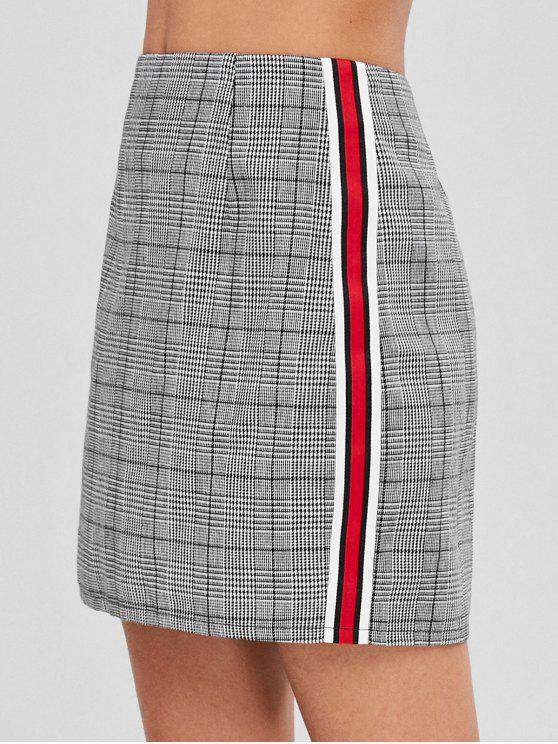 09407288be59 41% OFF  2019 ZAFUL Mini Contrast Plaid High Waisted Skirt In GRAY ...