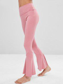 High Waisted Flare Yoga Pants - Watermelon Pink L