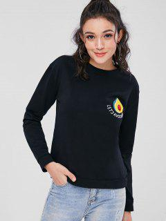Avocado Embroidered Sweatshirt - Black L